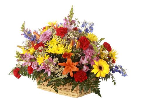 How to make a fresh flower arrangement in a basket : Custom care flowers gt arrangements lakeside cemetery